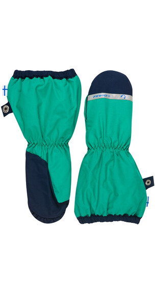 Finkid Pakkanen Gloves Kids emerald/navy